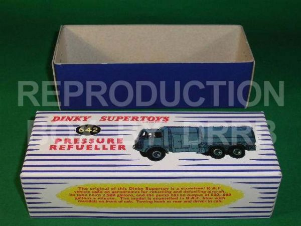 Dinky #642 Pressure Refueller - Reproduction Box